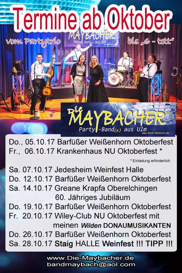 die maybacher partyband ulmdie maybacher termine - die maybacher